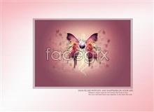 Link toBeautiful butterfly wallpaper psd