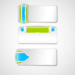 Link toBeautiful button banners vector