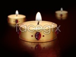Link toBeautiful candles psd