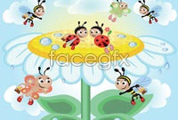 Link toBeautiful cartoon bees to honey vector