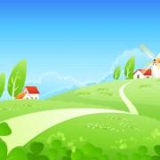 Link toBeautiful cartoon landscapes vector set 11 free
