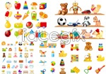 Link toBeautiful children's toys vector