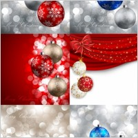 Link toBeautiful christmas ball 11 vector