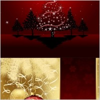 Link toBeautiful christmas ball background vector