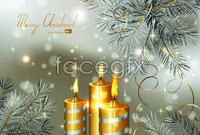 Link toBeautiful christmas candle vector