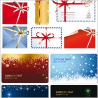 Link toBeautiful christmas cards with envelopes vector