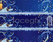 Link toBeautiful christmas decoration banner background vector