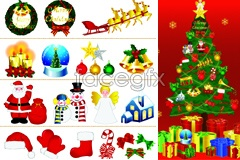 Link toBeautiful christmas elements vector set