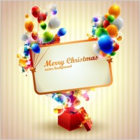 Link toBeautiful christmas gift box 04 vector