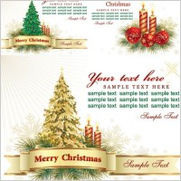 Link toBeautiful christmas greeting card background vector