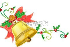 Link toBeautiful christmas hanging bell ai vector