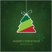 Link toBeautiful christmas label 02 vector