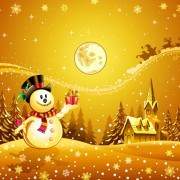Link toBeautiful christmas night winter vector background 04