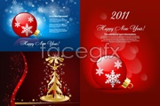 Link toBeautiful christmas ornament background vector