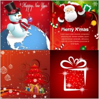 Link toBeautiful christmas ornaments and background vector