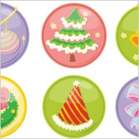 Link toBeautiful christmas ornaments icon vector