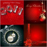 Link toBeautiful christmas postcard ii vector