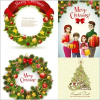 Link toBeautiful christmas wreath vector
