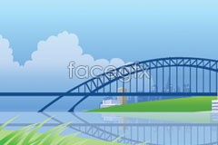 Link toBeautiful city view vector