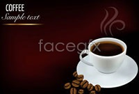 Link toBeautiful coffee commercial design elements vector background