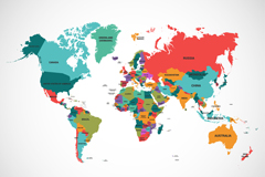 Link toBeautiful colored world map vector illustration