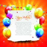 Link toBeautiful colorful balloons happy birthday background vector 05