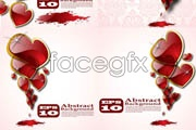 Link toBeautiful crystal heart-shaped vector