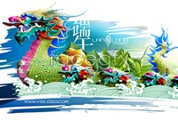 Link toBeautiful dragon boat festival cards vector