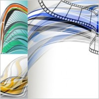 Link toBeautiful dynamic lines of the background vector fashion