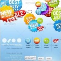Link toBeautiful ecommerce website decoration icon psd layered