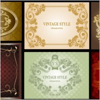 Link toBeautiful europeanstyle lace pattern vector