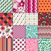 Link toBeautiful fabric patterns vector 03