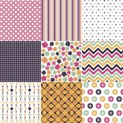 Link toBeautiful fabric patterns vector 05