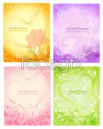 Link toBeautiful fantasy backgrounds vector