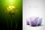 Link toBeautiful fantasy flowers vector