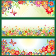 Link toBeautiful floral and butterfly banner vector free
