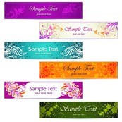 Link toBeautiful floral banner vector