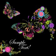 Link toBeautiful floral butterfly creative background art 02 free