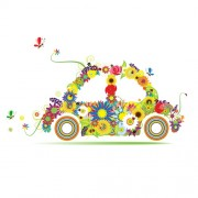 Link toBeautiful floral car design graphics 03 free