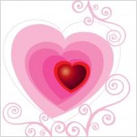 Link toBeautiful floral heart vector