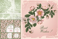 Link toBeautiful floral pattern 01-vector background