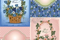 Link toBeautiful floral pattern 02 vector background