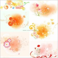 Link toBeautiful floral pattern vector series series 2 10p