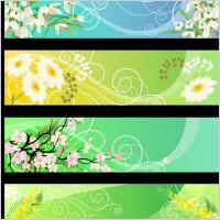 Link toBeautiful flower banner 01 vector