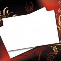 Beautiful flower box blank cardboard 03 vector