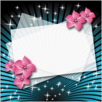 Link toBeautiful flower box empty cardboard 01 vector
