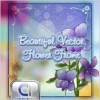 Link toBeautiful flower frame in vector