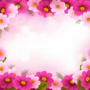 Link toBeautiful flower frame vector graphics 01 free