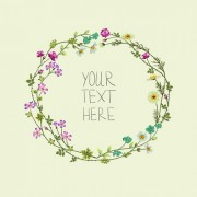 Link toBeautiful flower frames with vintage background 02 free