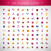 Link toBeautiful flower icons vector graphics free